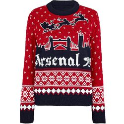 """<a class=""""ql-link"""" href=""""https://arsenaldirect.arsenal.com/Gifts/Christmas-Shop/Arsenal-Womens-London-Skyline-Christmas-Jumper/p/N03893"""" target=""""_blank"""">Ugly Christmas Sweater</a>. It's weird because this sweater is definitely ugly, but ugly sweaters have grown on me. For the socialite Gooner (the one who, at some point in the future, will be going to an ugly sweater party). From Arsenal.com."""