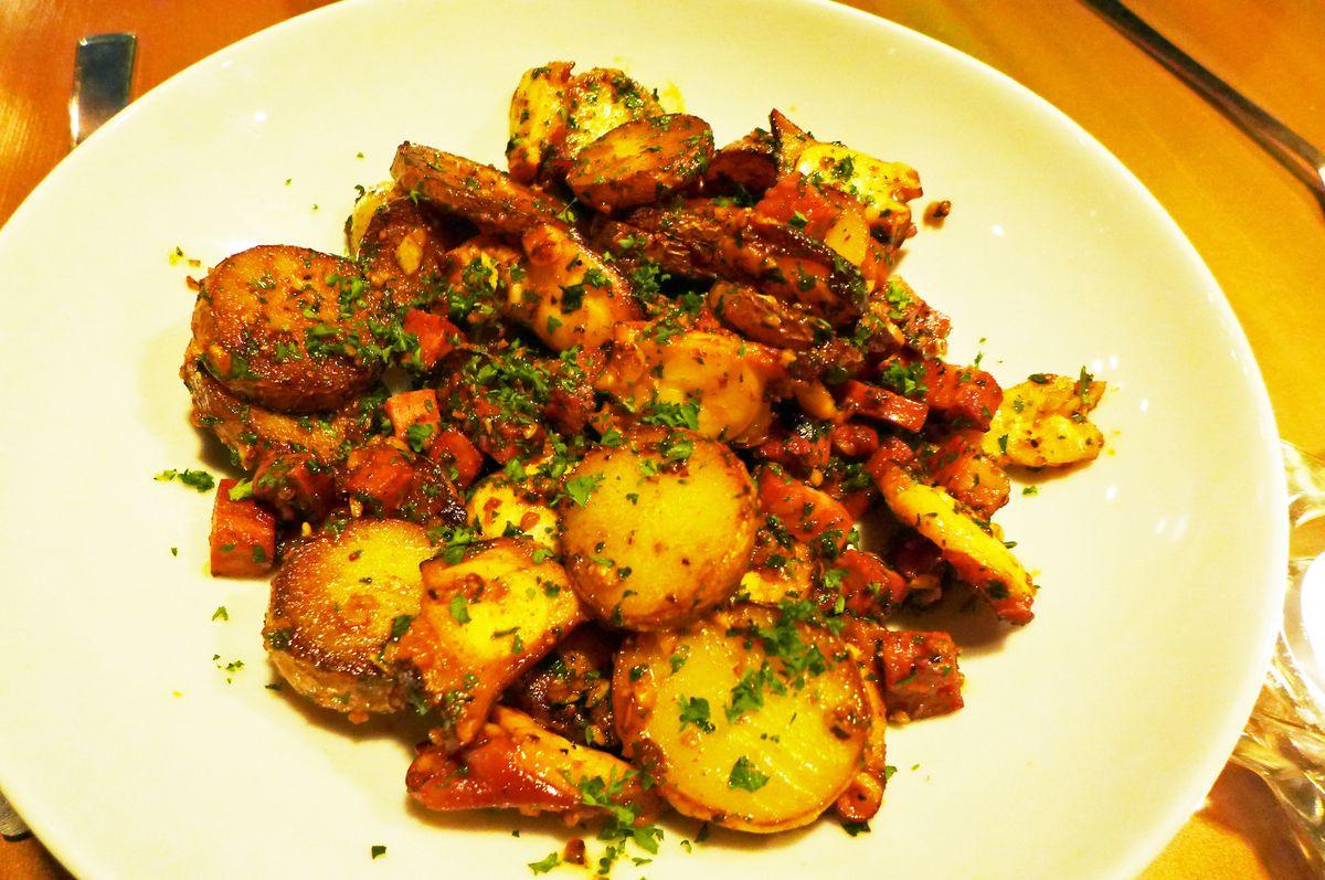 Octopus appetizer at Tambour