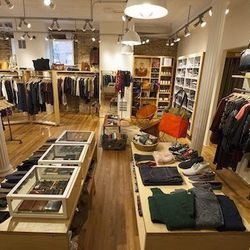 The small-but-airy space has light wood floors, exposed brick walls, and—we'll get to this—plenty of stylish gear for men and women.