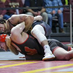 Nebraska coaches complained about an illegal choke hold by the Minnesota wrestler.