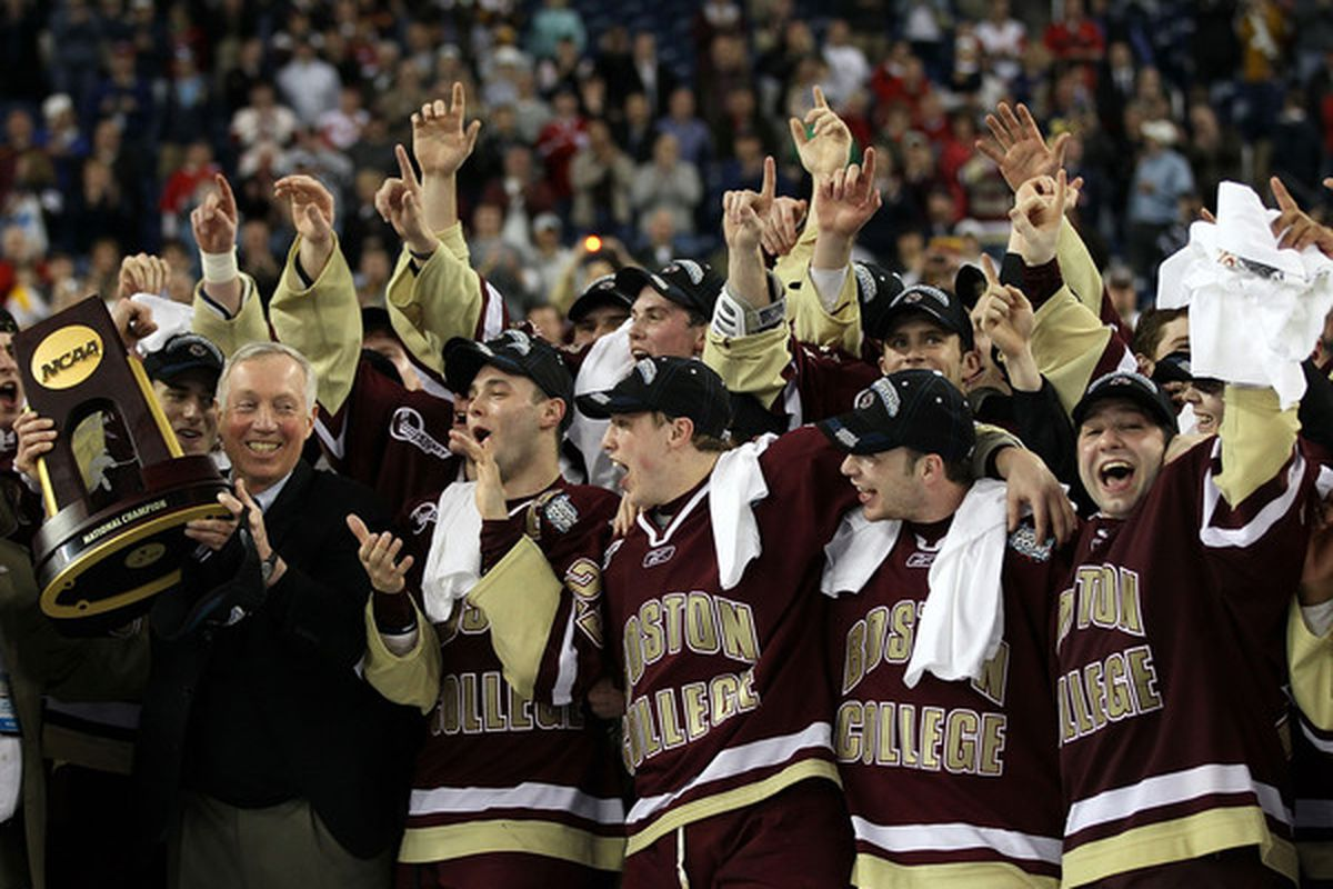 Where's your Beanpot / Hockey East Tournament Title / National Championship? (Photo by Elsa/Getty Images)