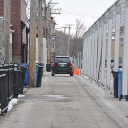 Narrow alley for Clifton Avenue residents -