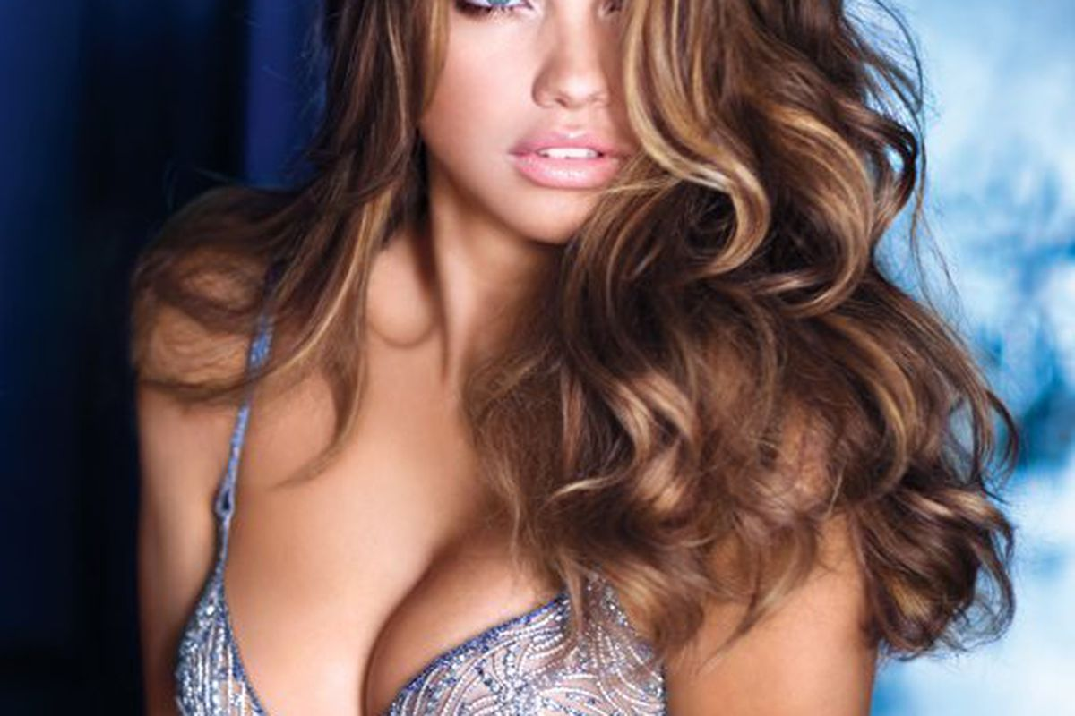 """Adriana Lima in that <a href=""""http://racked.com/archives/2010/10/20/this-is-the-closest-weve-ever-gotten-to-something-that-will-soon-grace-supermodel-adriana-limas-boob.php"""">$2 million diamond-encrusted bra</a>"""