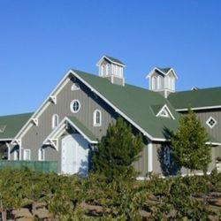 The remolded winery, modeled after the old barns that used to populate Napa Valley in the pre-Chateau era.