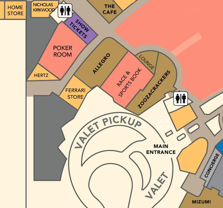 Wynn Las Vegas property map