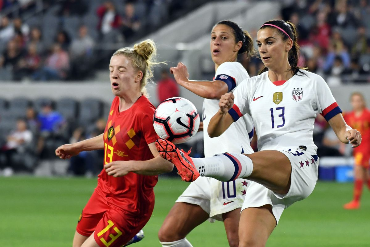 Major Link Soccer: USWNT rout Belgium 6-0 in World Cup prep