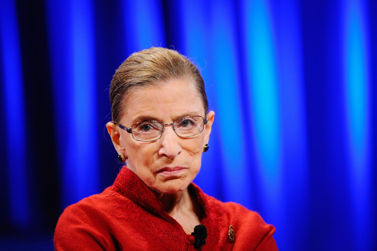 Justice Ruth Bader Ginsburg previously said that the Supreme Court would decide the issue of same-sex marriage if federal appeals court decisions conflicted, as they now do today.