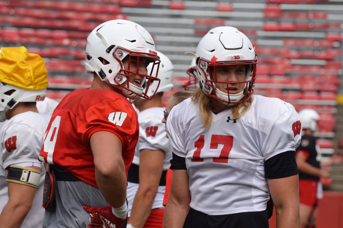 Tight end Kyle Penniston and outside linebacker Andrew Van Ginkel.