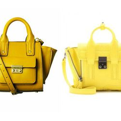 "Little yellow bag. Right: Mini Pashli bag, <a href=""https://www.google.com/search?q=phillip+lim+mini+pashli&oq=phillip+lim+mini+mashli&aqs=chrome.1.69i57j0l3.7656j0&sourceid=chrome&ie=UTF-8#bav=on.2,or.r_cp.r_qf.&ei=NEUKUvDBOcibygHTu4GgDQ&fp=760b0b00b73d5"