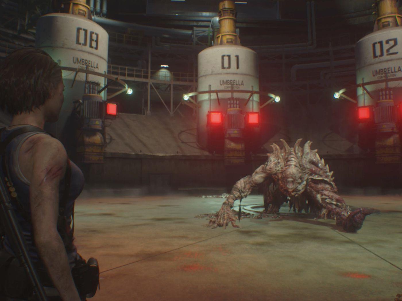 Re3 Nemesis Boss Fight Guide Disposal Center Polygon