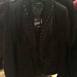 Suede jacket, $295 (from $895)