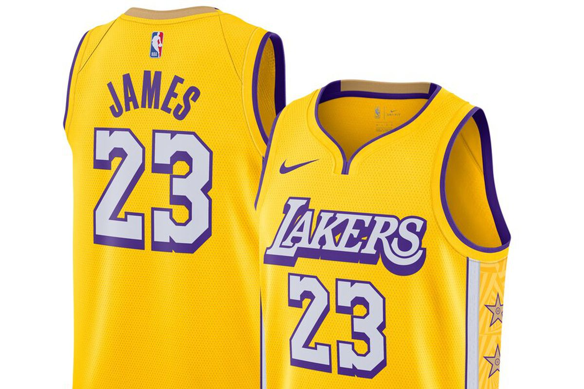 NBA City Edition 2019: Here's the new Los Angeles Lakers ...Lakers Jersey