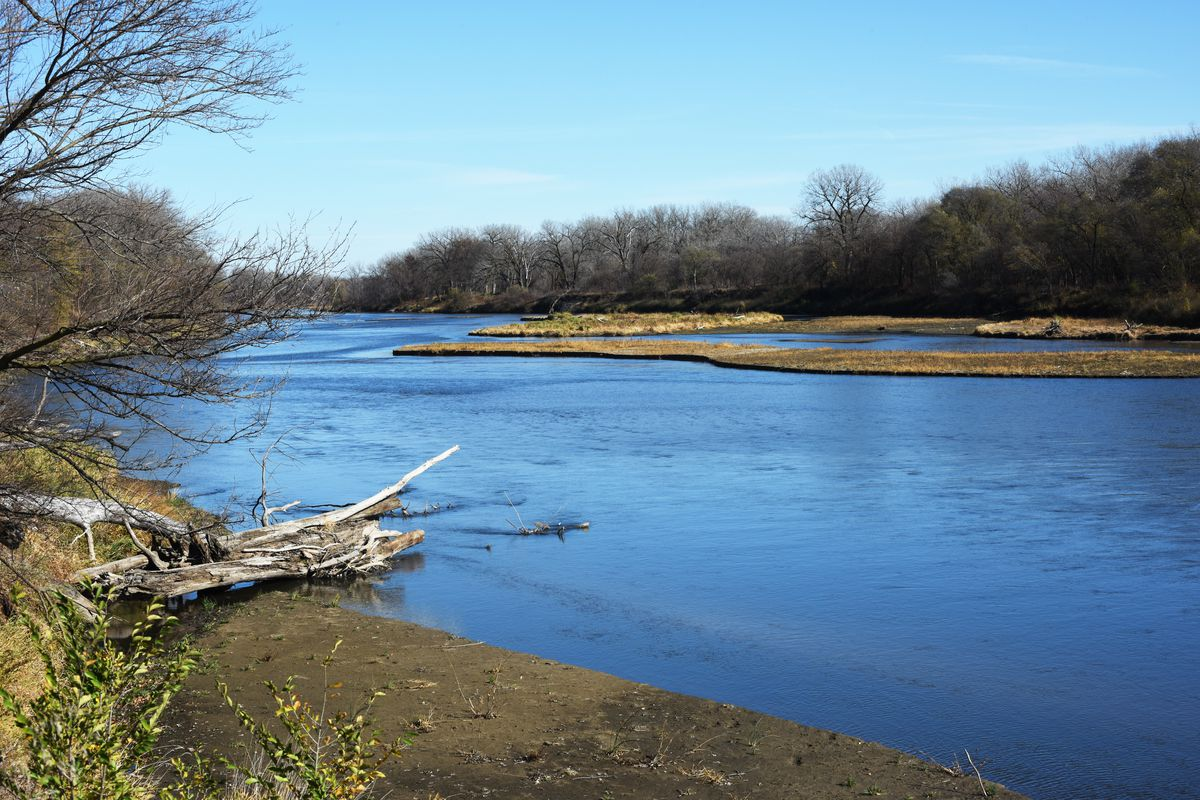 Elkhorn River at the edge of the town of Stanton