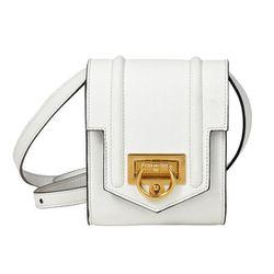 "<b>Reece Hudson</b> White Siren Mini Bag, <a href=""http://shop.dagnyandbarstow.com/collections/handbags/products/reece-hudson-white-siren-mini-bag"">$495</a> at Dagny + Barstow"