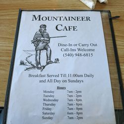 The Mountaineer Cafe in Madison, VA.
