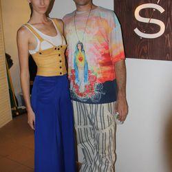 Designer Kyle Svendsen with model
