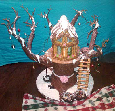 Gingerbread treehouse.