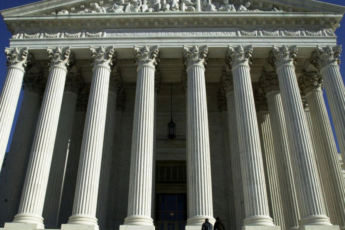 The U.S. Supreme Court building in Washington