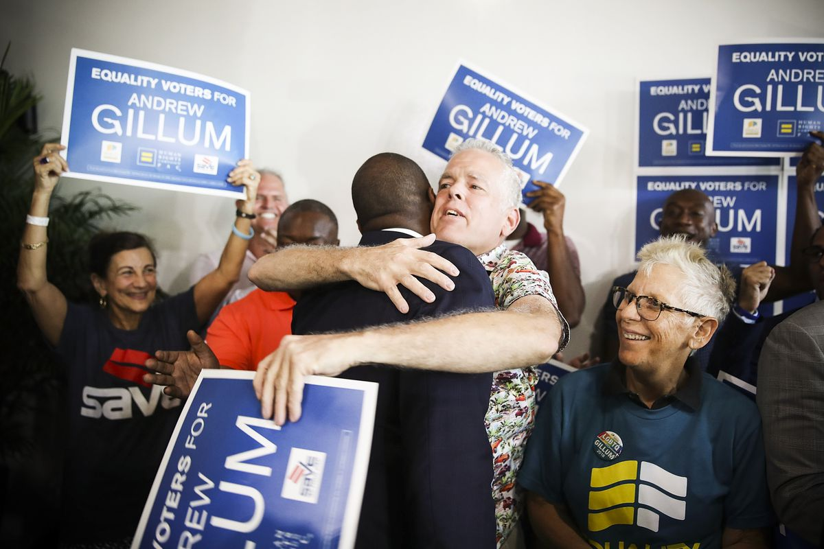Andrew Gillum at a campaign rally in Miami, Florida, on September 24, 2018.