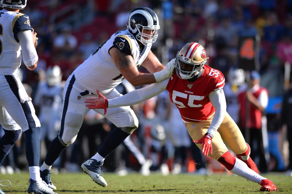 LA Rams at San Francisco 49ers: RT Rob Havenstein among inactives