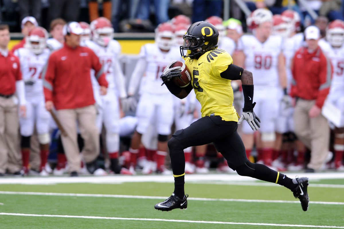 Players such as De'Anthony Thomas may be faster than they appear on your computer.