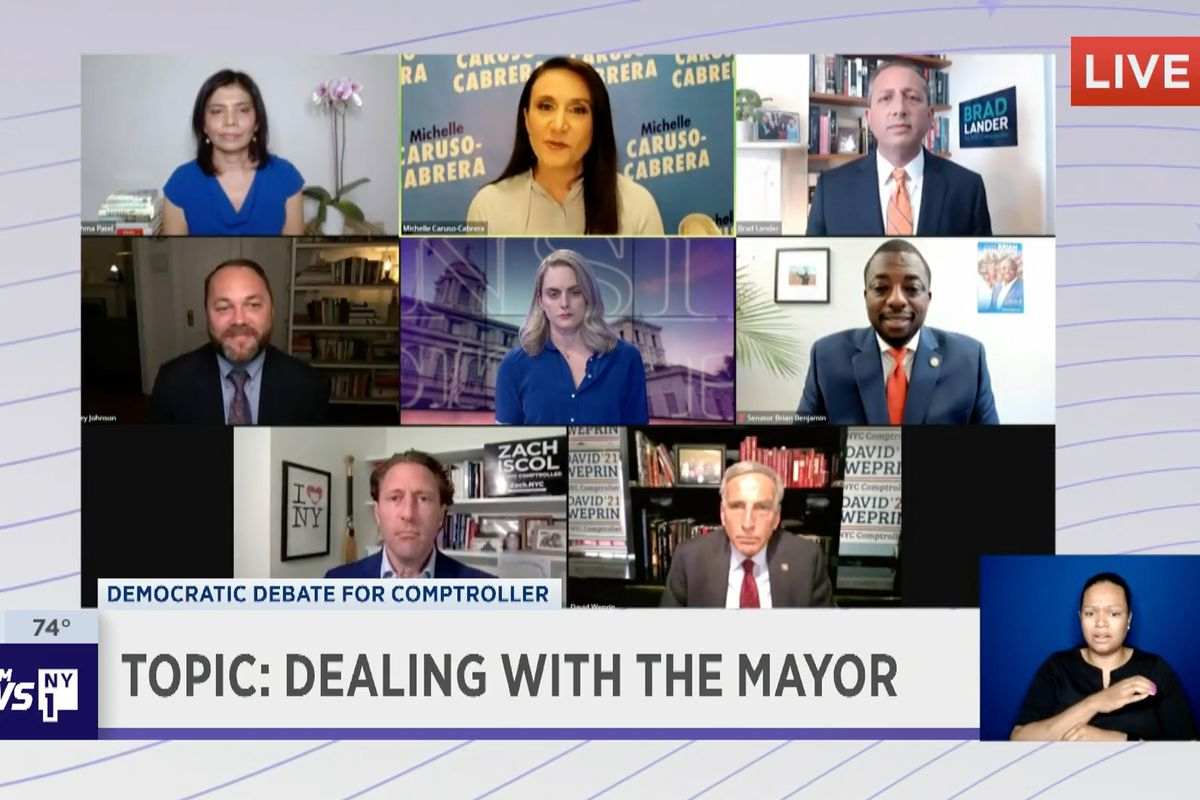 Comptroller candidates held their first official live debate, June 10, 2021.