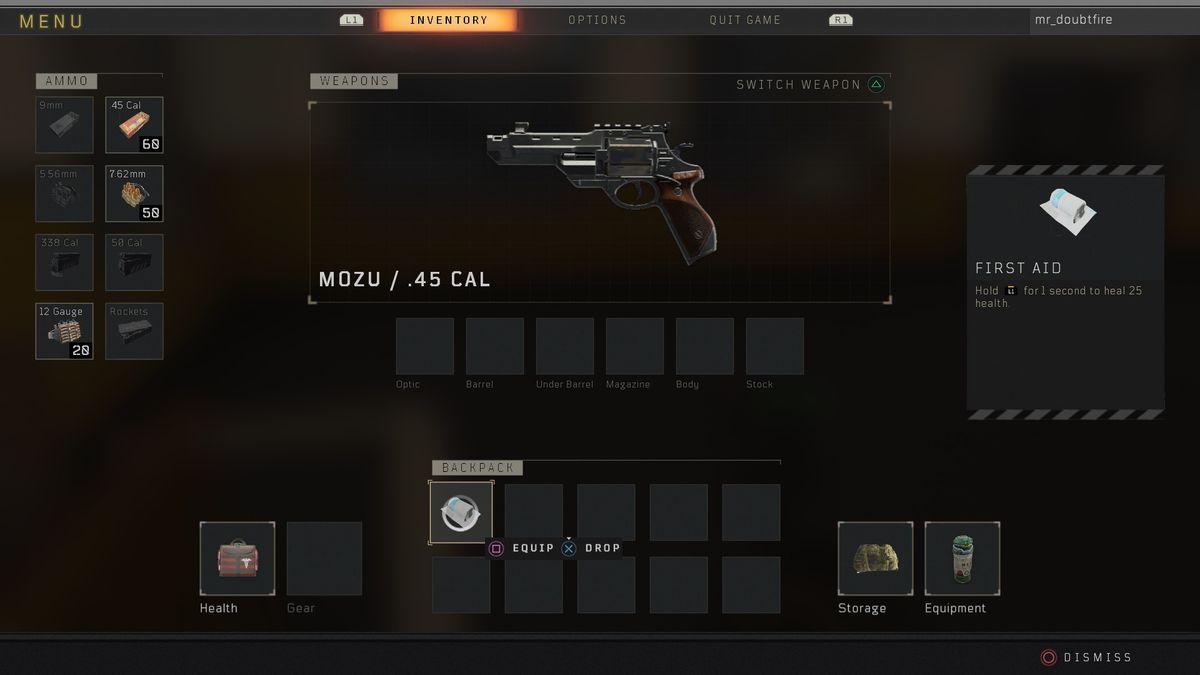 Call of Duty: Black Ops 4 Blackout MOZU
