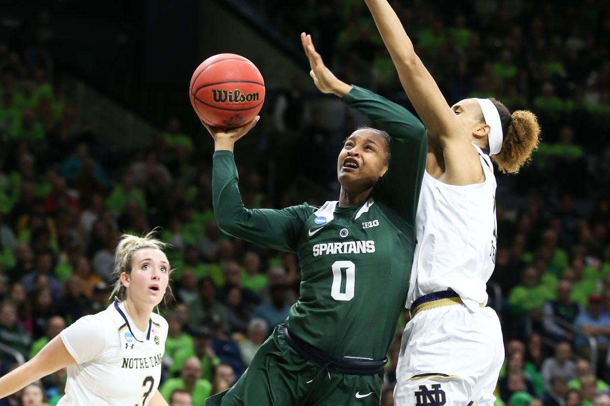 NCAA BASKETBALL: MAR 25 Div I Women's Championship - Second Round - Michigan State v Notre Dame
