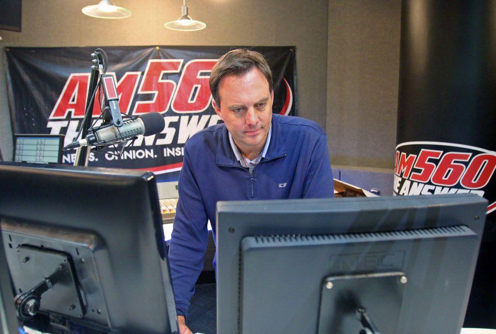 Dan Proft, WIND talk show host in his radio studio in Elk Grove Village in October 2016. | Tim Boyle/For the Sun-Times