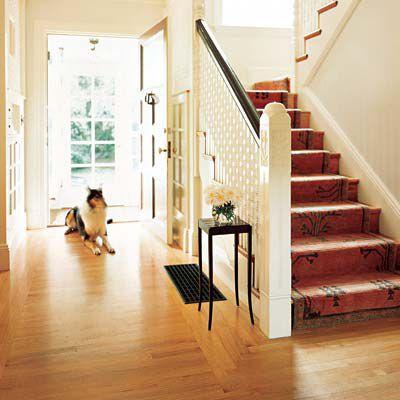 Clear-Coated White Oak Hardwood Floors