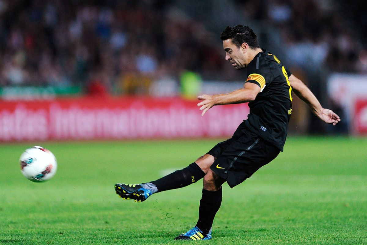 Xavi was the best player on the pitch last night.
