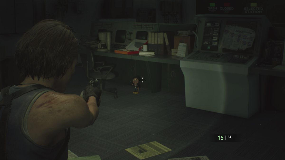 Resident Evil 3 Subway Control Room Charlie Doll