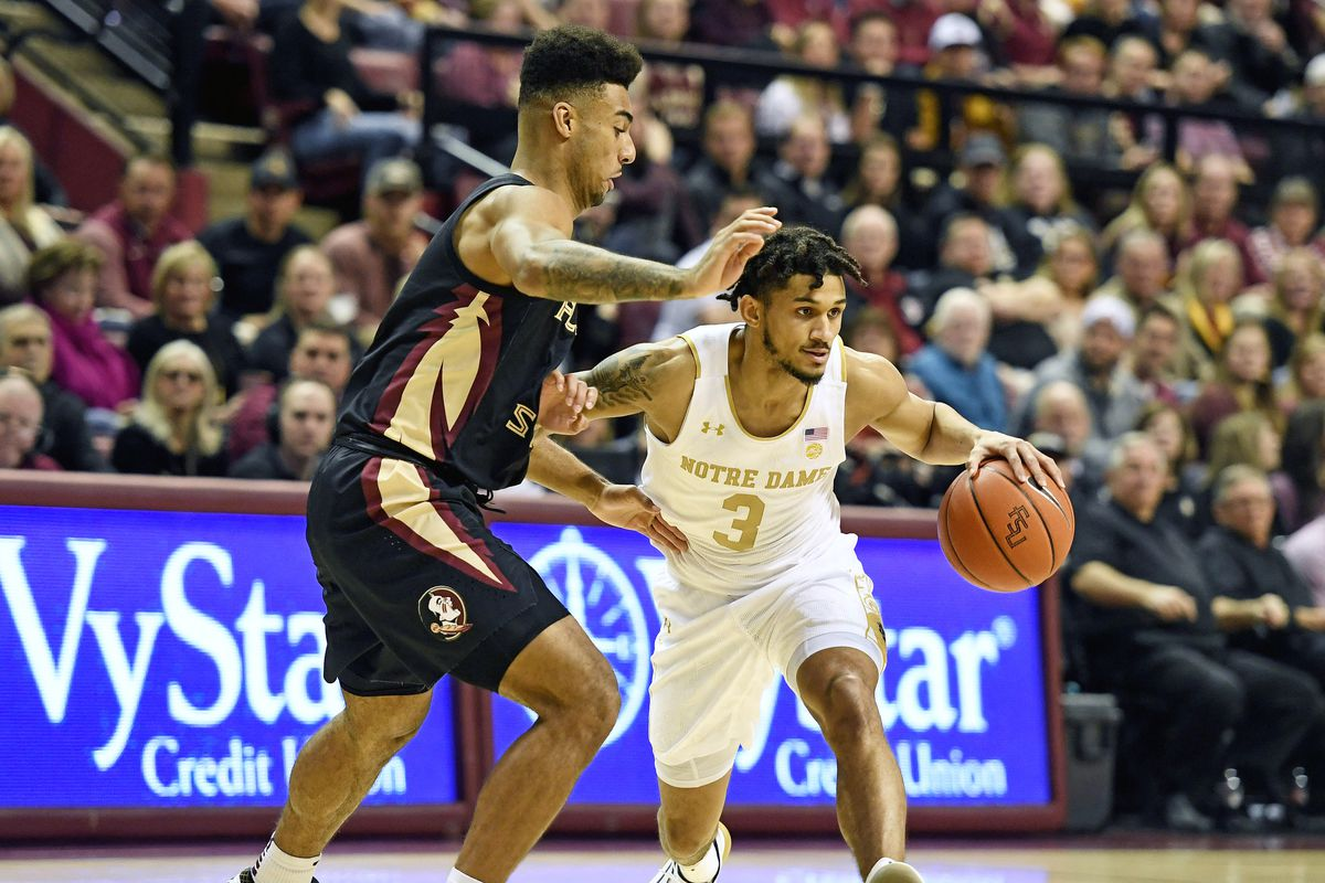 Notre Dame Men S Basketball No 5 Florida State Escapes Irish One Foot Down