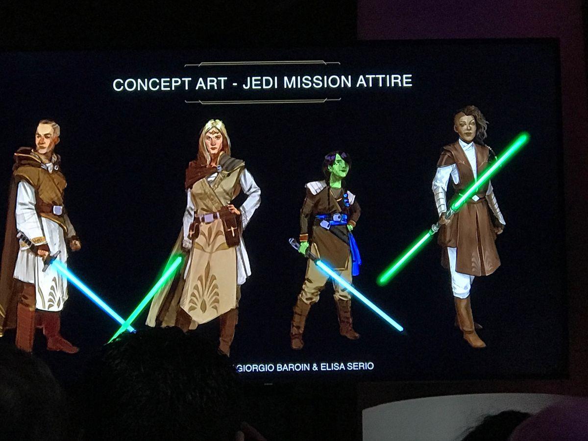 Star Wars: The High Republic concept art by Giorgio Baroin and Elisa Serio of Jedi mission attire