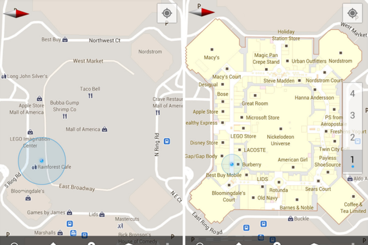 Google Maps For Android Adds Indoor Maps New Places - Japan us map