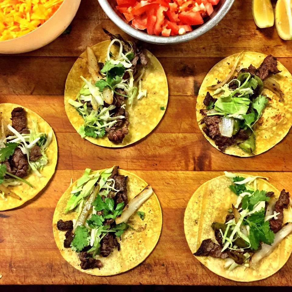 Beef fajita tacos at Farolito in Abilene