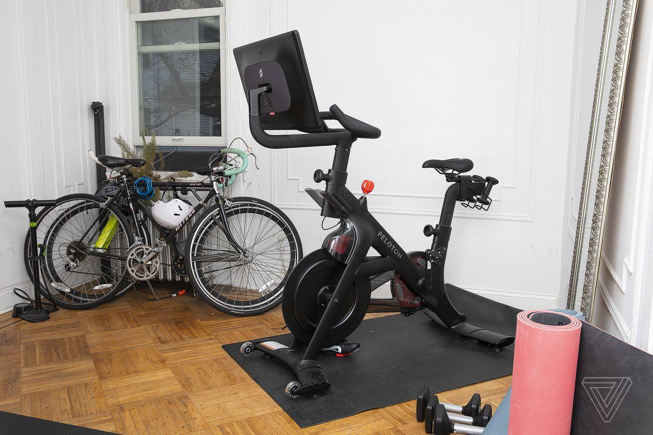Pelton Bike Plus in an apartment