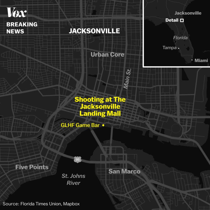 Jacksonville_Shooting_map Shooting at Jacksonville, Florida video game tournament: What we know so far