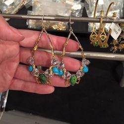 Earrings, $95