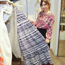 Nicole Chavez browsing the Summer 2013 Collection