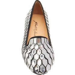 "<b>Alberto Moretti-Arfango</b>, <a href=""http://www.barneys.com/Alberto-Moretti-Arfango-Mirrored-Loafer/502538849,default,pd.html?cgid=womens-shoes&index=4"">$720</a>"