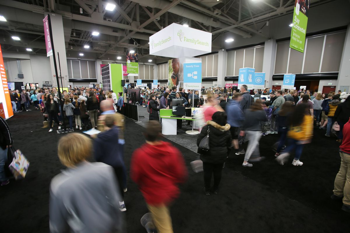 Thousands attend RootsTech at the Salt Palace in Salt Lake City on Wednesday, Feb. 26, 2020.