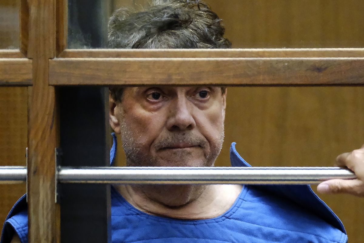 In this July 1, 2019, file photo, Dr. George Tyndall listens during his arraignment at Los Angeles Superior court in Los Angeles.