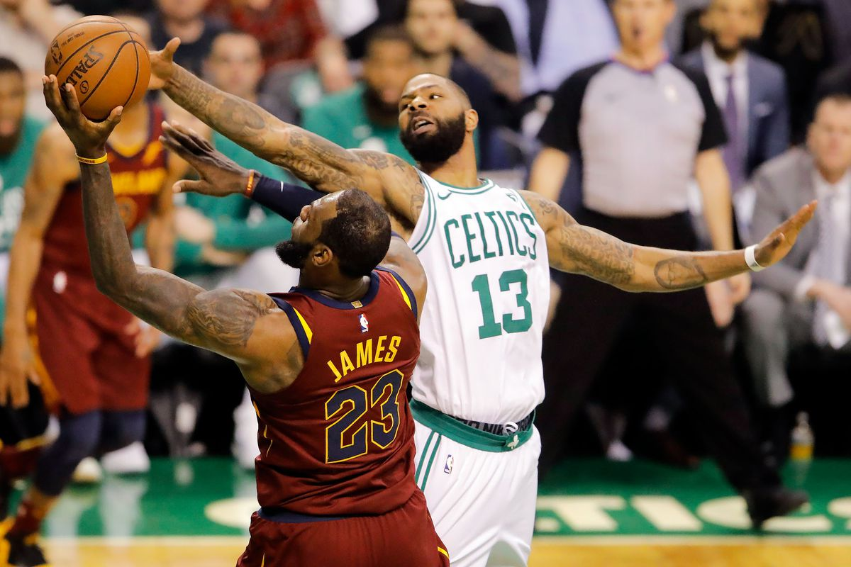 Cavs Vs Celtics Marcus Morris Claimed He Could Stop Lebron James Then He Backed It Up Sbnation Com
