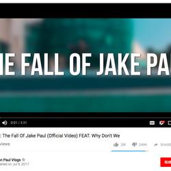 "Logan Paul's song, ""The Fall of Jake Paul"" has more than 150 million views."
