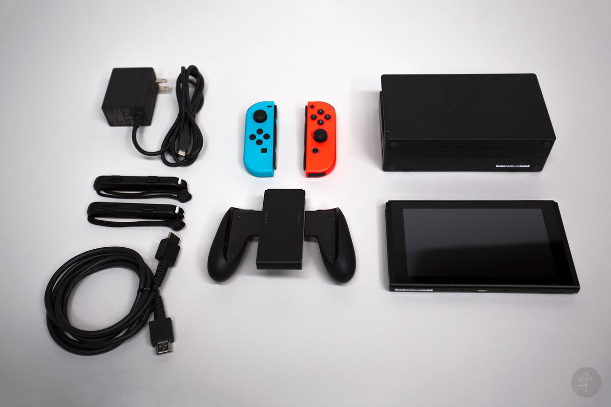 Nintendo Switch - everything in the box