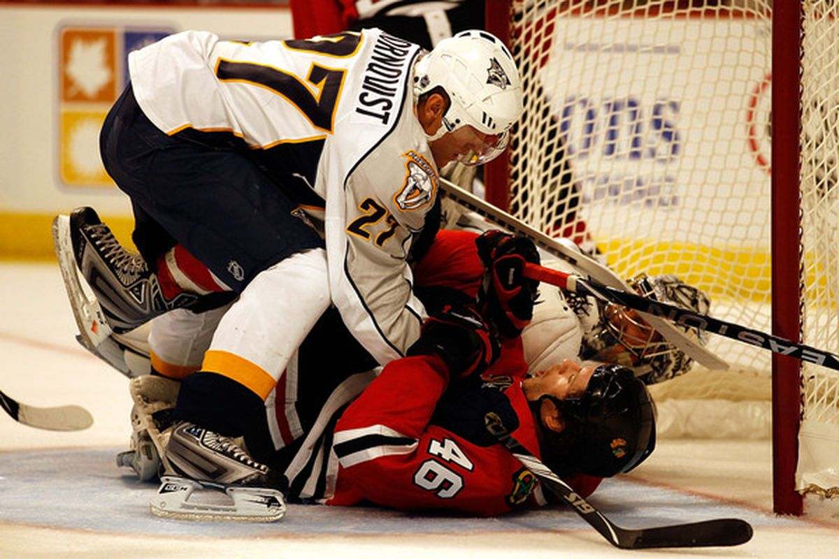 Battles in the crease will be a new addition in this year's NHL video game.