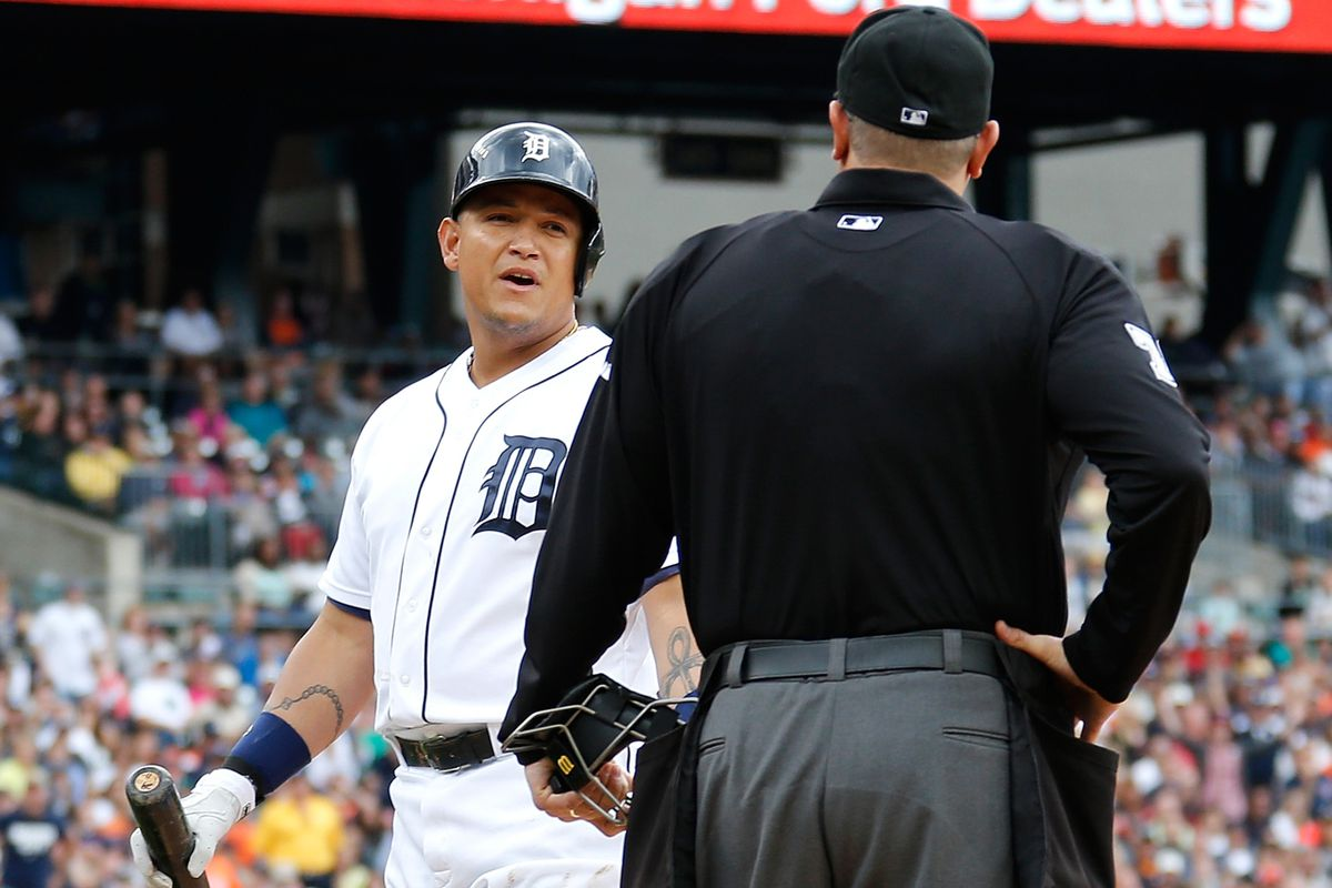 Jeff Fairchild tosses Miguel Cabrera from Sunday's game