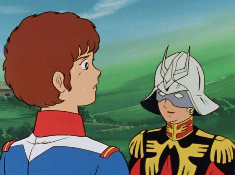 Amuro Ray and Char Aznable meet in Mobile Suit Gundam