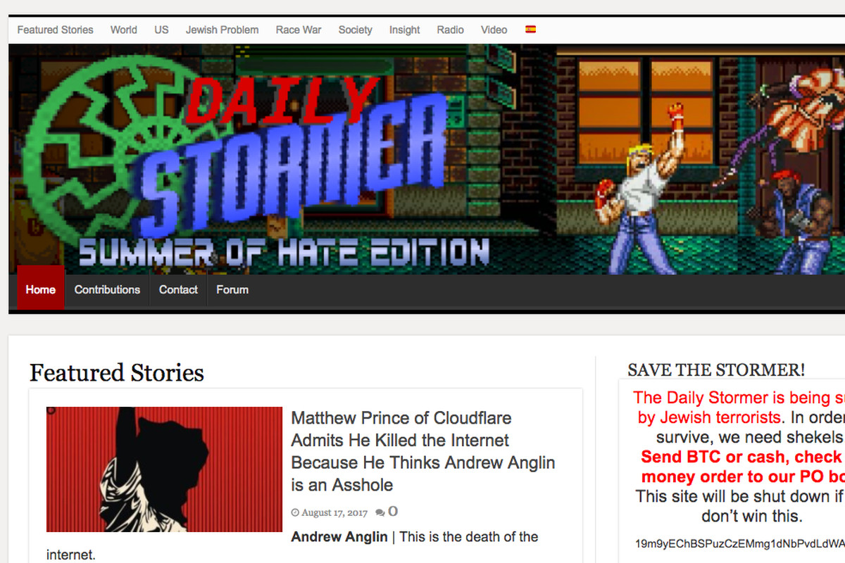 Daily Stormer  homepage
